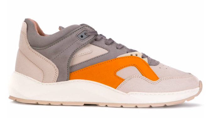 Filling Pieces Low Legacy Arch Runner Foil Off White - Orange maat