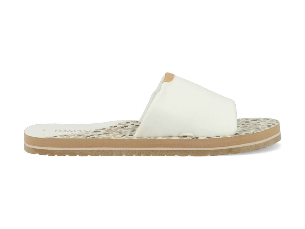 Toms Slippers Carly 10016551 Wit maat