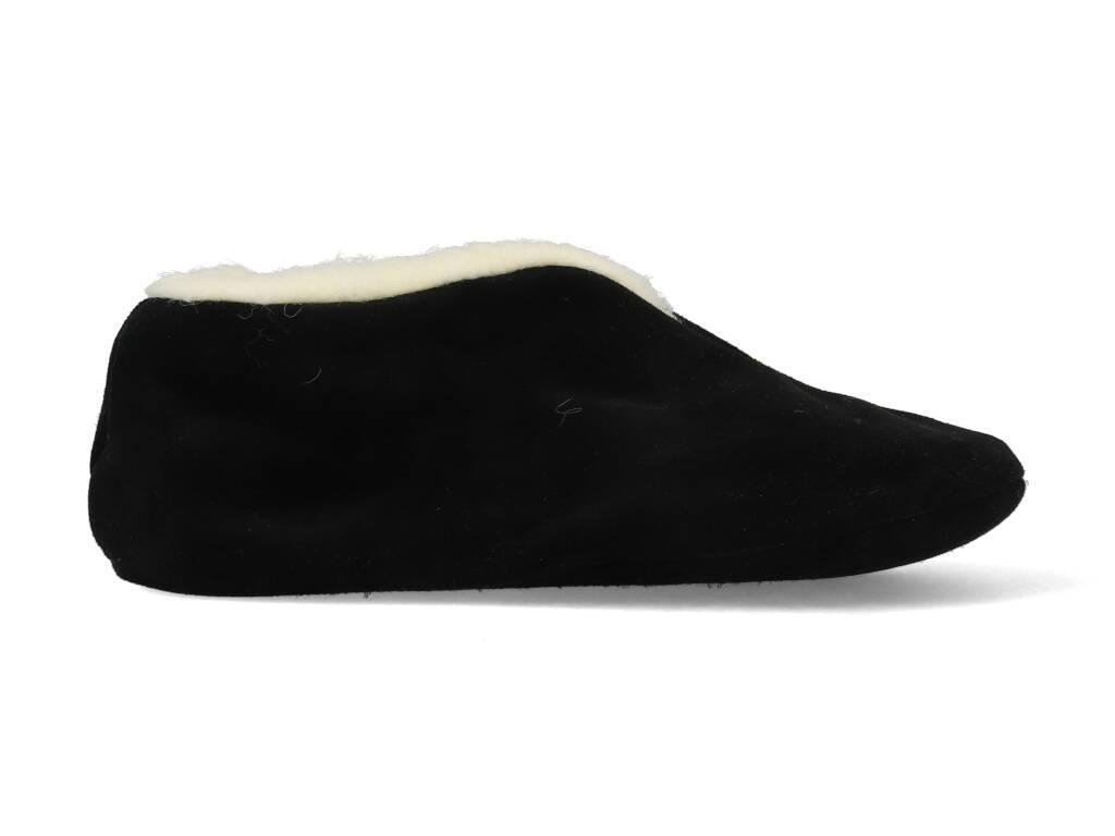 Bernardino Spaanse Sloffen 100% Wol Zwart