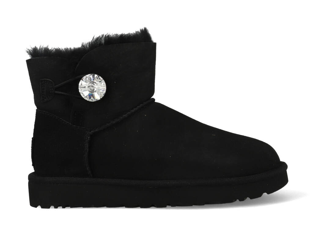 UGG Mini Bailey Button Bling 1016554/BLK Zwart-39 maat 39