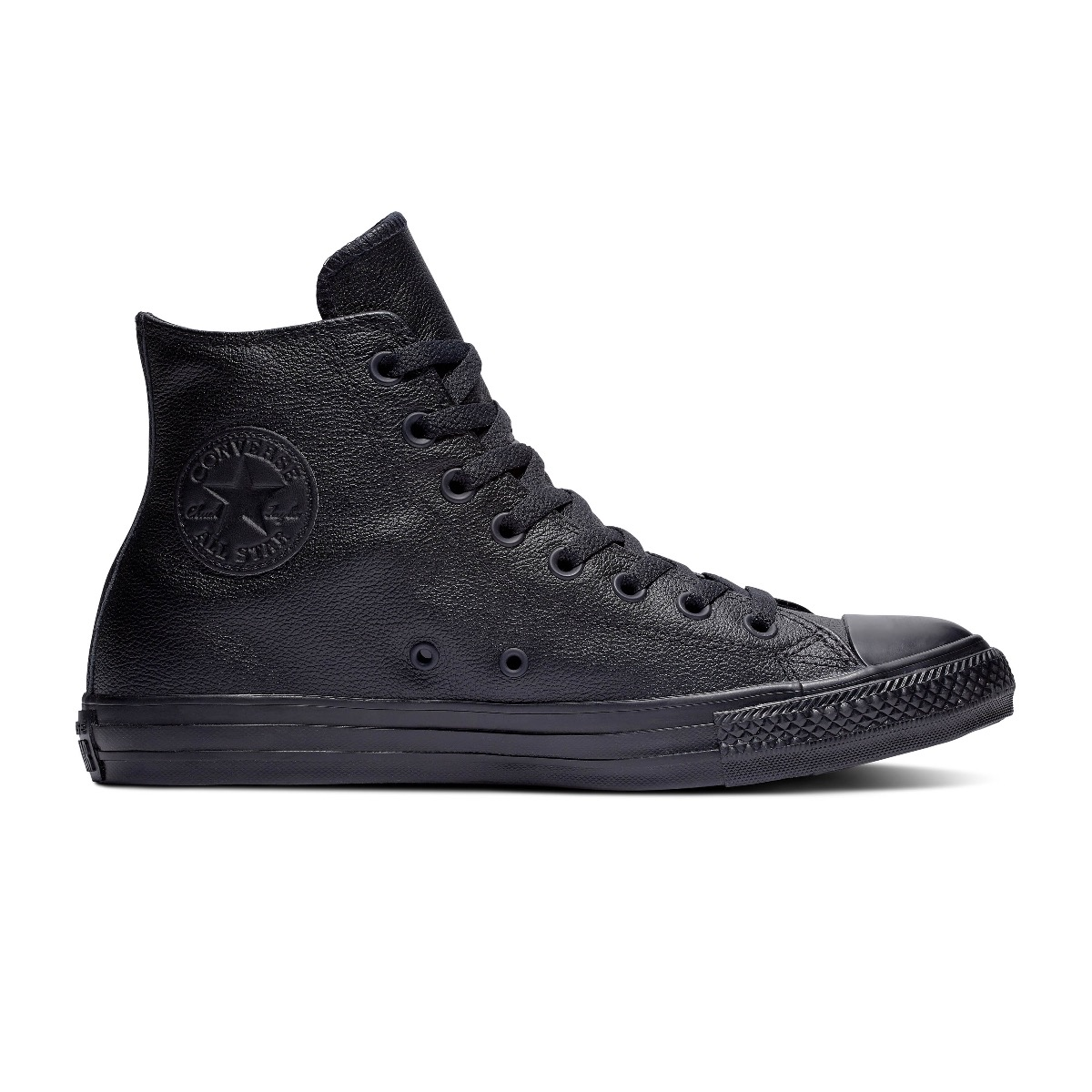 Converse All Stars Leather Hoog 135251C Zwart maat