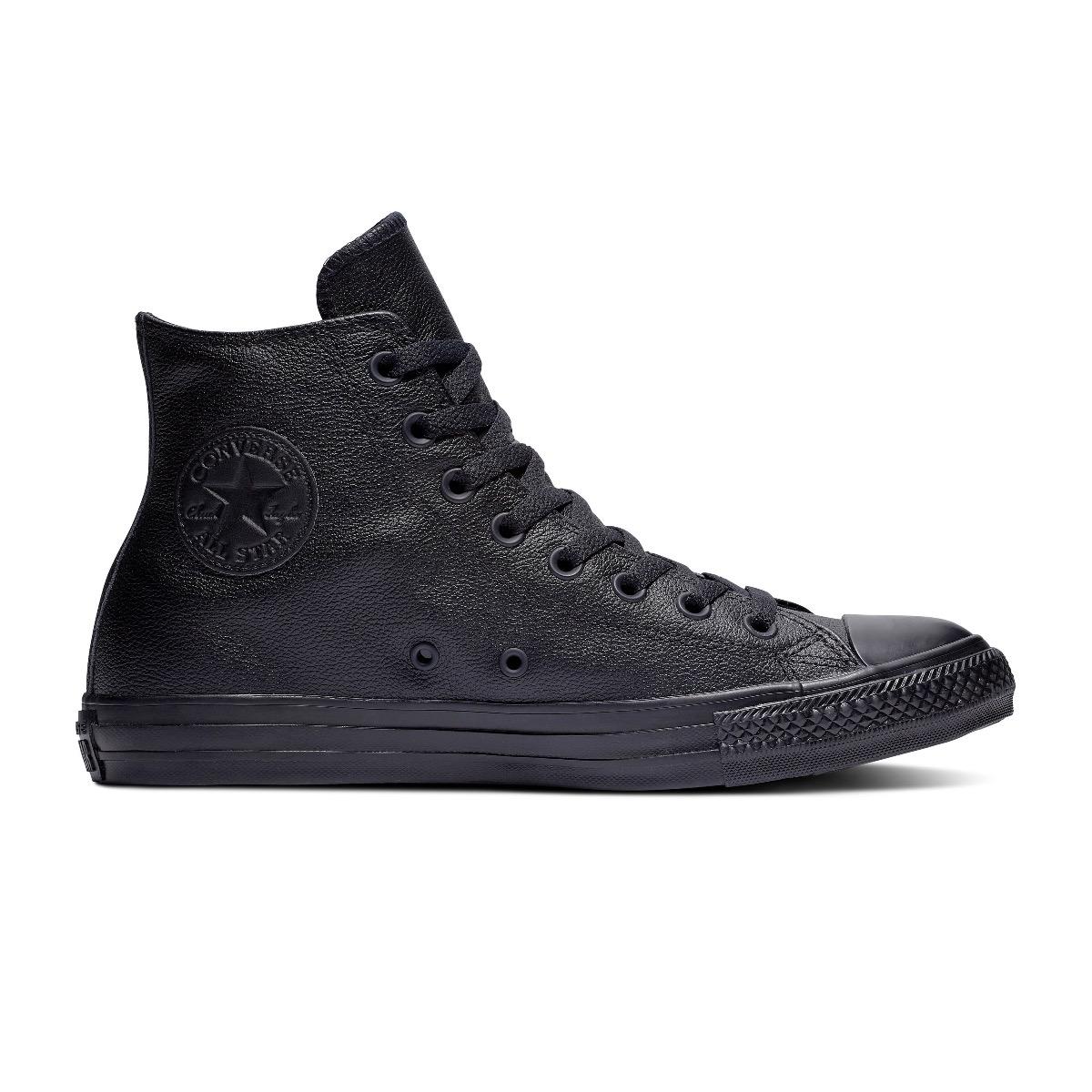 Converse All Stars Leather Hoog 135251C Zwart-36 maat 36