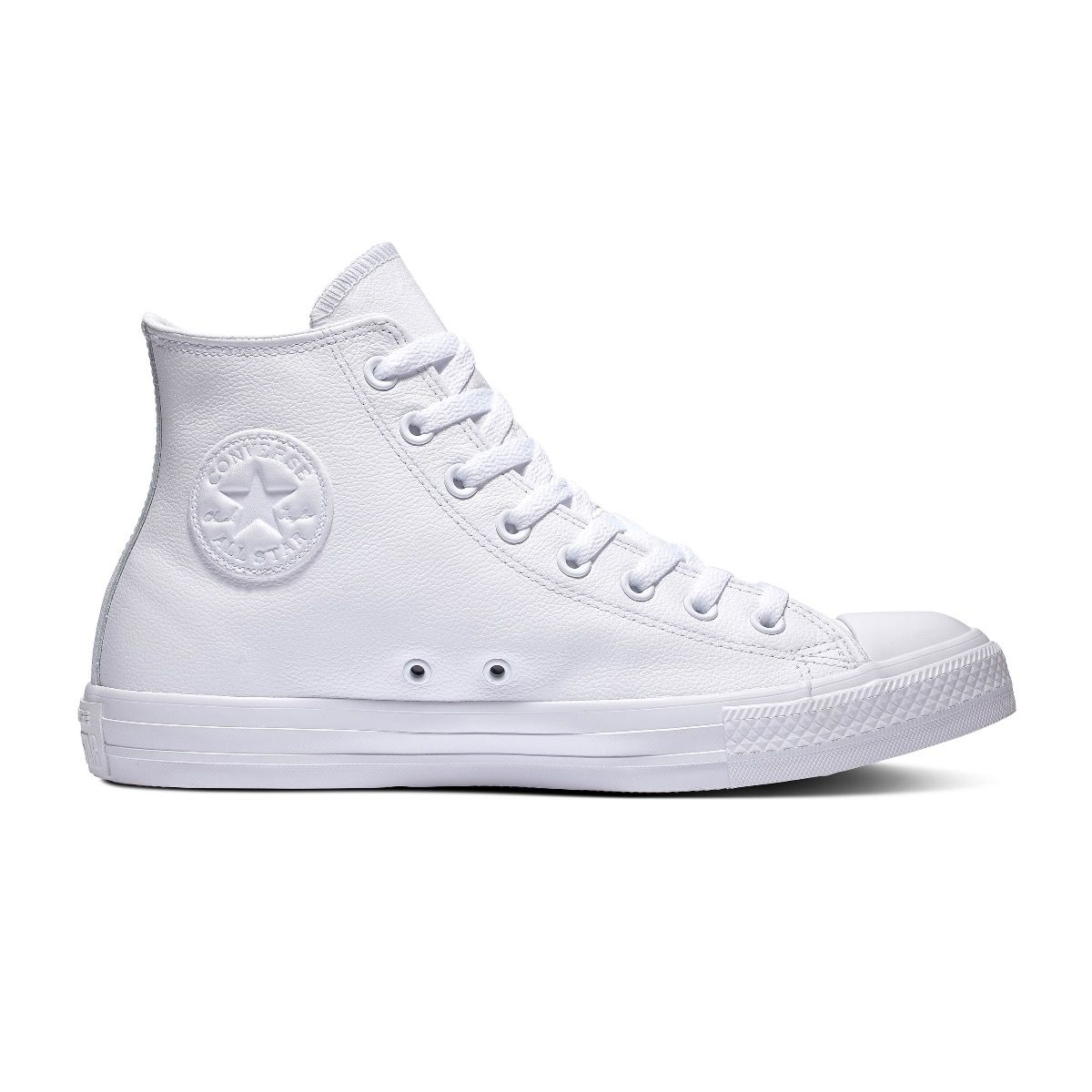 Converse All Stars Leather Hoog 1T406 Wit maat