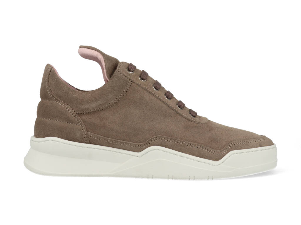 Filling Pieces Low Top Ghost Suede Taupe maat