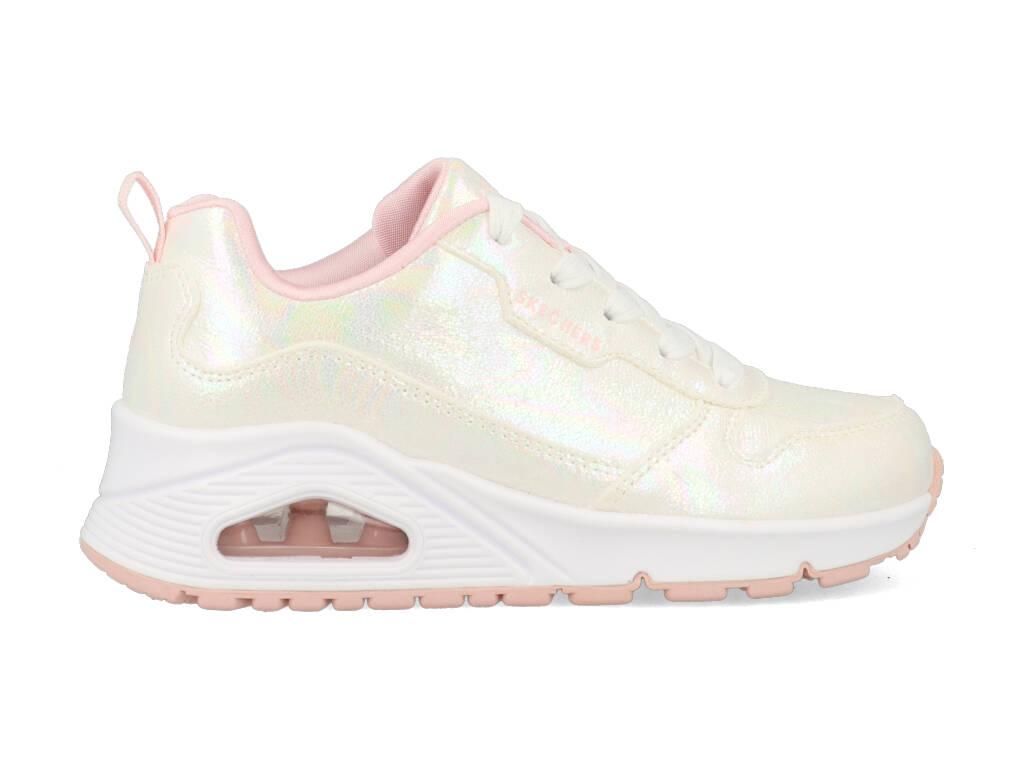 Skechers Uno Opal Shines 310510L/WMLT Wit / Roze-33 maat 33
