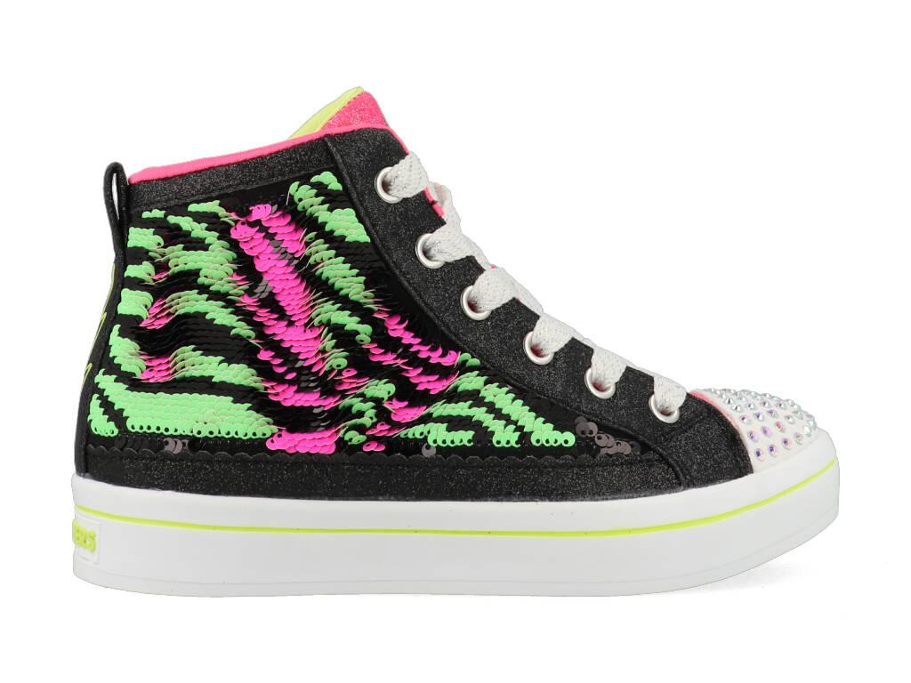 Skechers Neon Muse 314025L/BKNP Zwart / Roze / Groen-30 maat 30