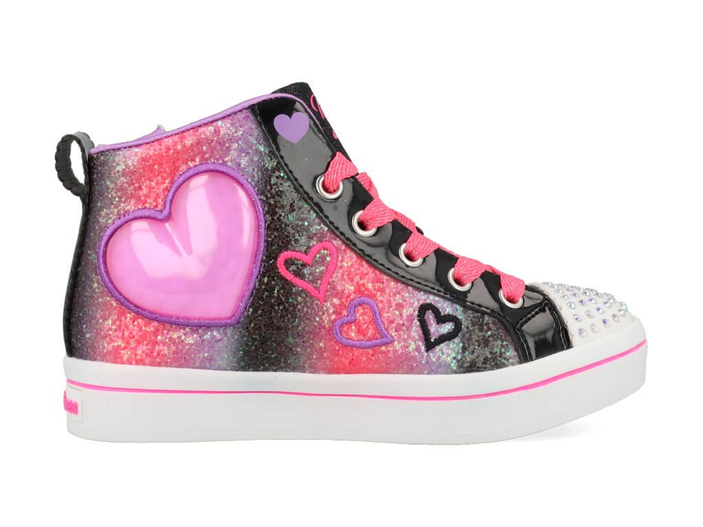 Skechers Heart Gem 314419L/BKMT Zwart / Roze maat 17