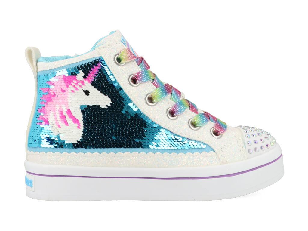 Skechers Twinkle Toes 314550L/WMLT Wit maat