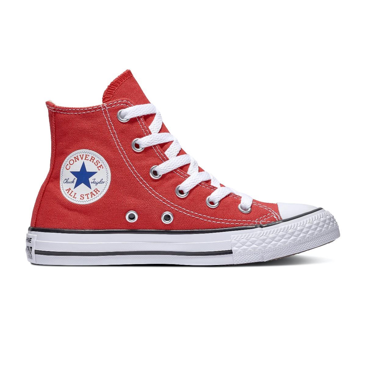 Converse All Stars Hoog 3J232C Rood-33.5 maat 33.5