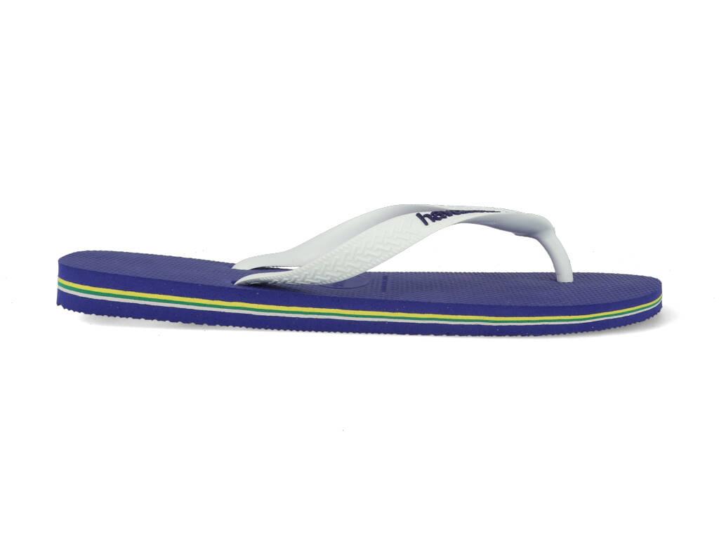 Havaianas Slippers Brasil Logo 4110850.2711.M19 Blauw / Wit