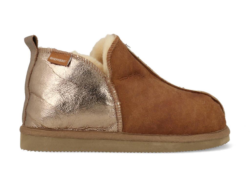 Shepherd Pantoffels Annie 4922152 Bruin-36 maat 36
