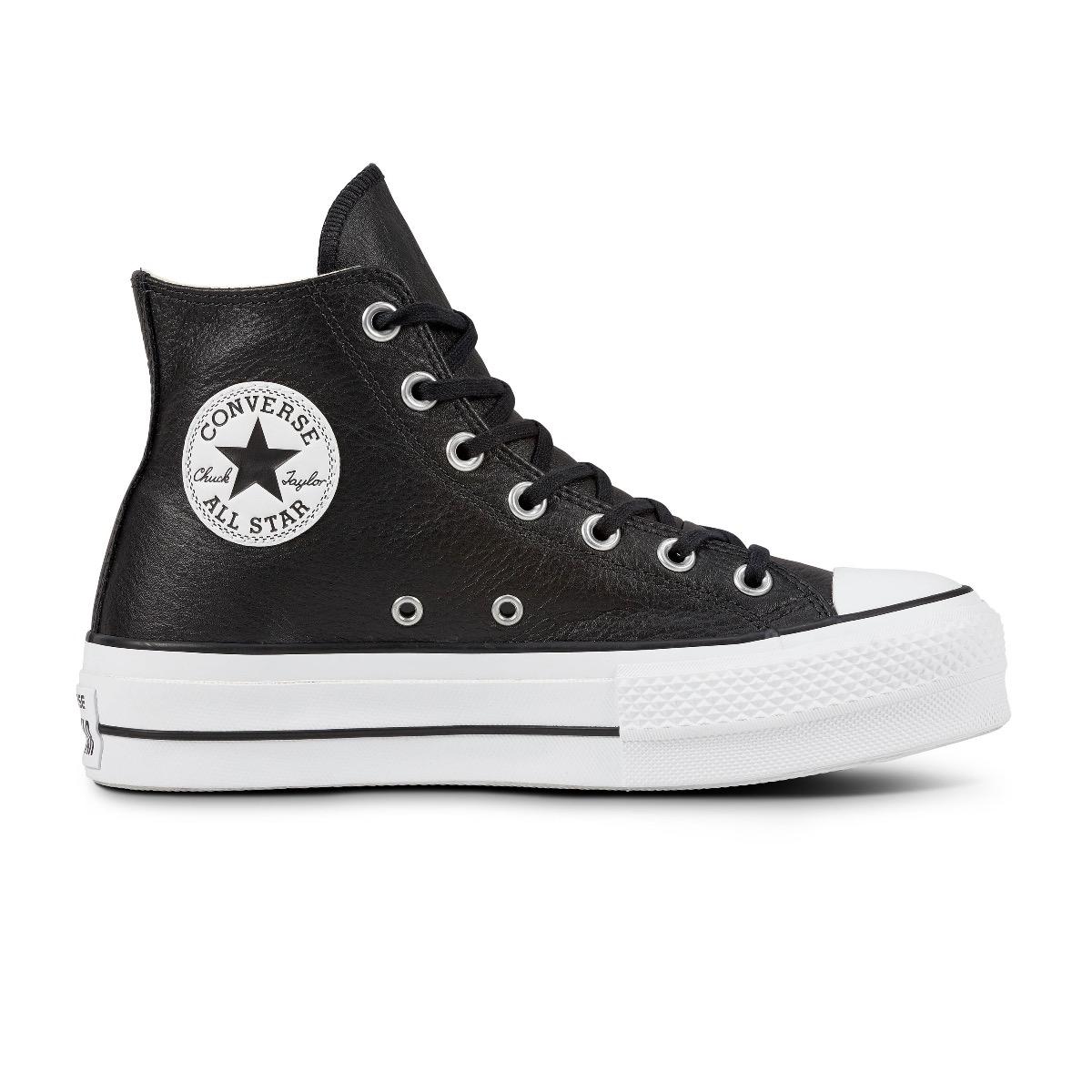 Converse All Stars Lift Clean 561675C Zwart - Wit maat