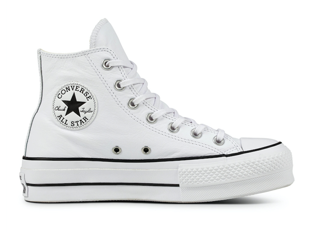 Converse All Stars Hoog Lift Clean Leather 561676C Wit maat