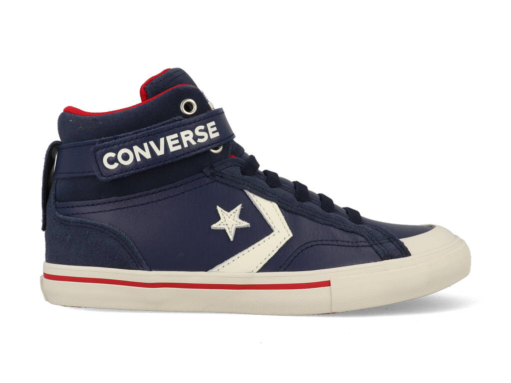 Converse All Stars Pro Blaze Strap Hoog 665839C Blauw - Rood - Wit maat