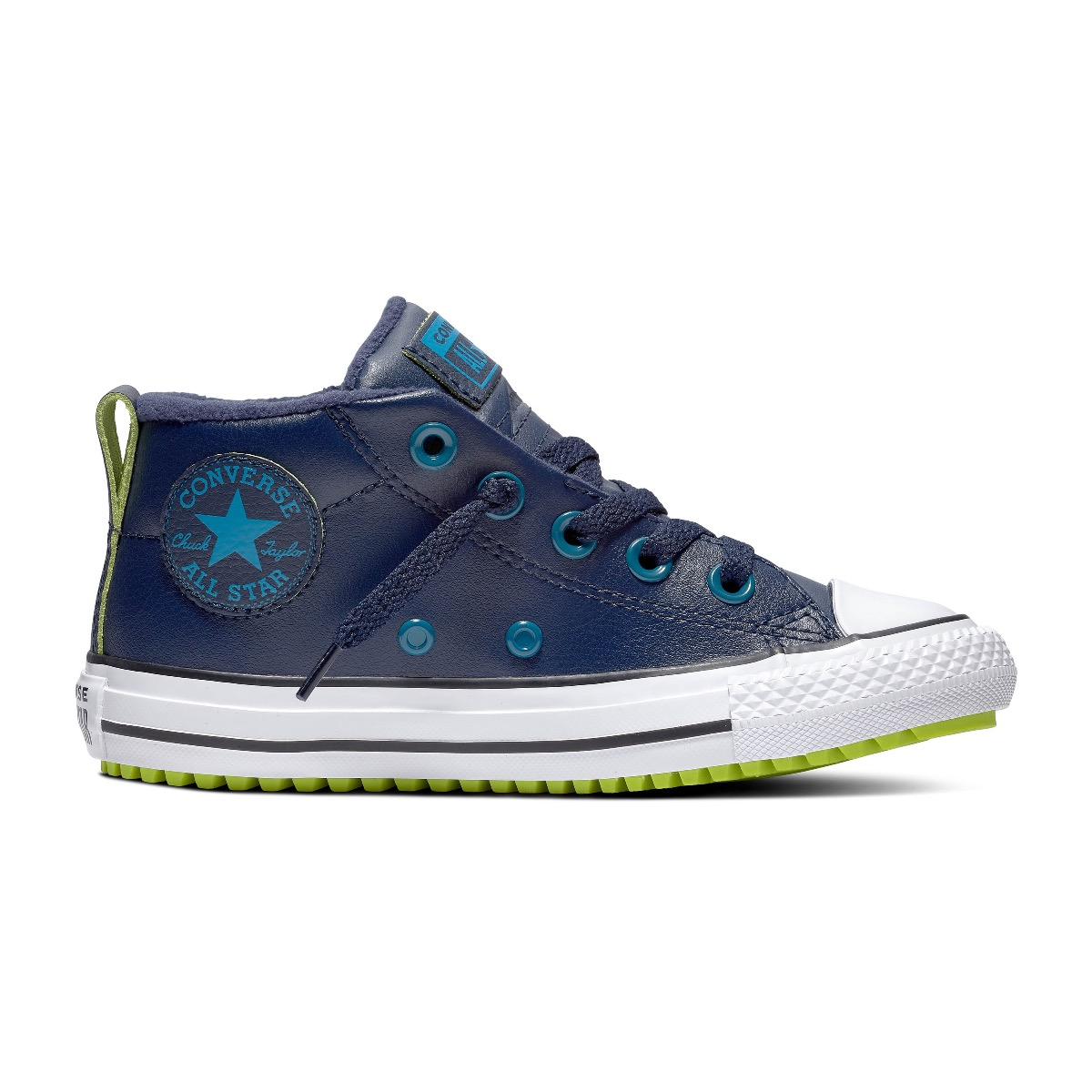 Converse All Stars Chuck Taylor Street Boot 666006C Blauw - Groen - Wit-36 maat 36