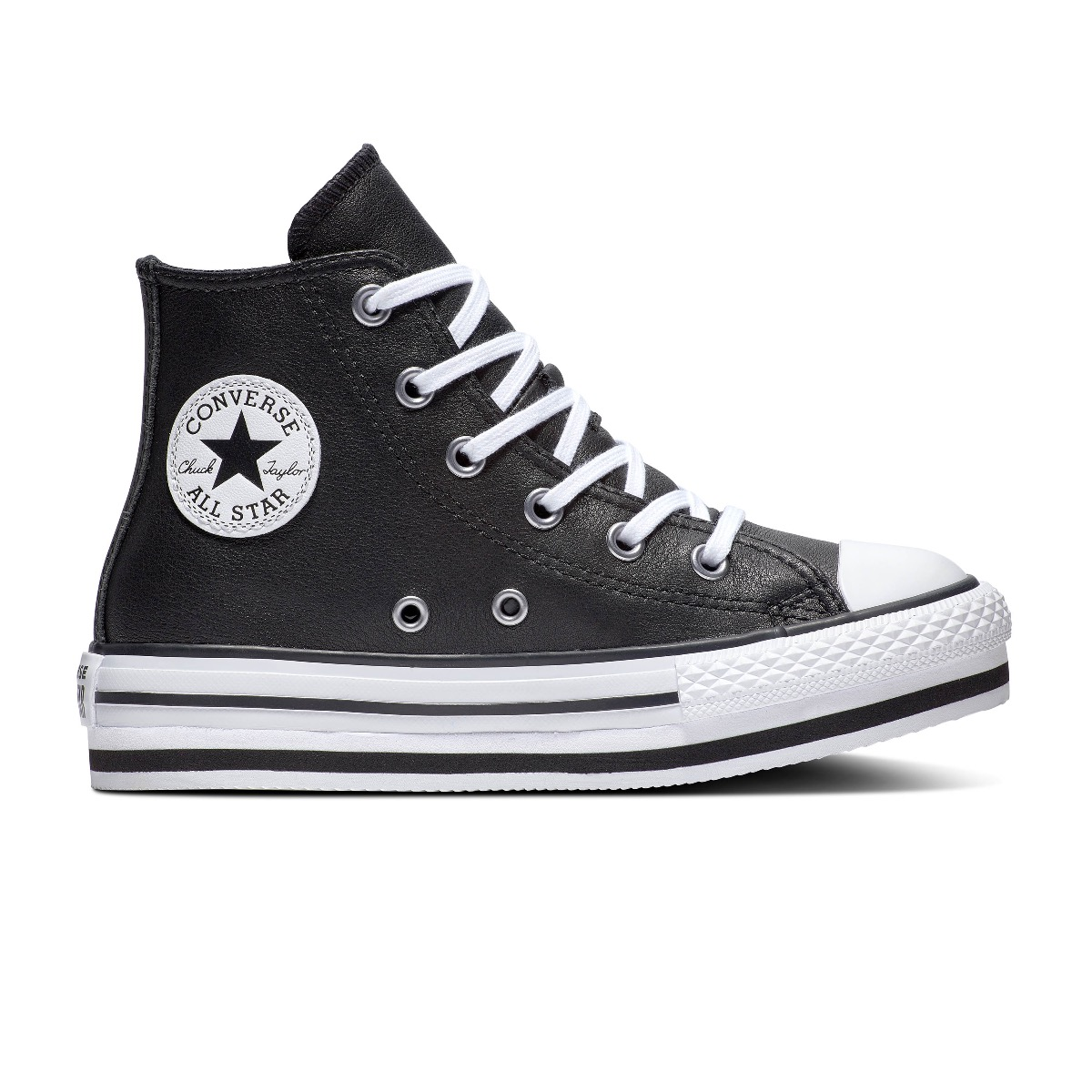 Converse All Stars Platform Eva-Hi 666391C Zwart - Wit maat