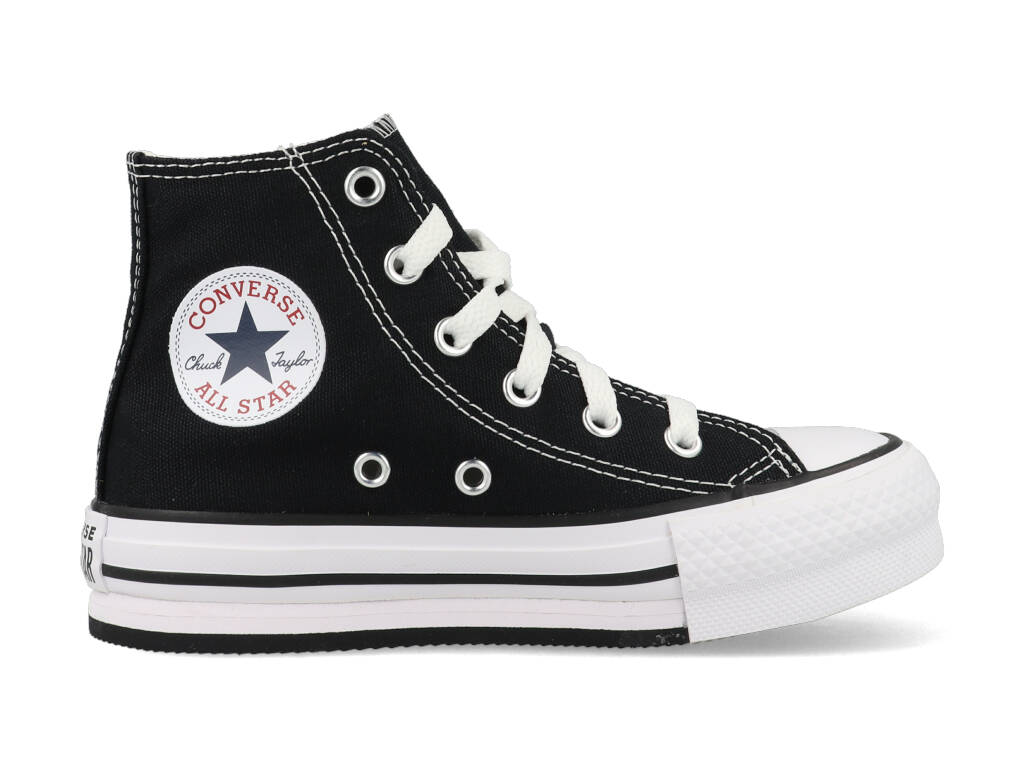 Converse All Stars Chuck Taylor Eva Lift-Hi 671107C Zwart-31 maat 31