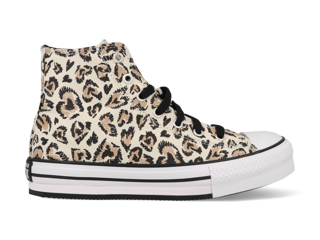 Converse All Stars Chuck Taylor Eva Lift leopard 671604C Beige-32 maat 32