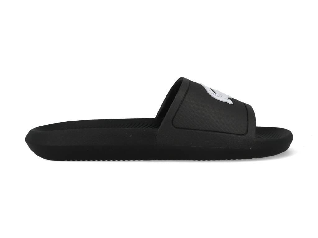 Lacoste Slippers Logo 7-37CMA0018312 Zwart - Wit maat