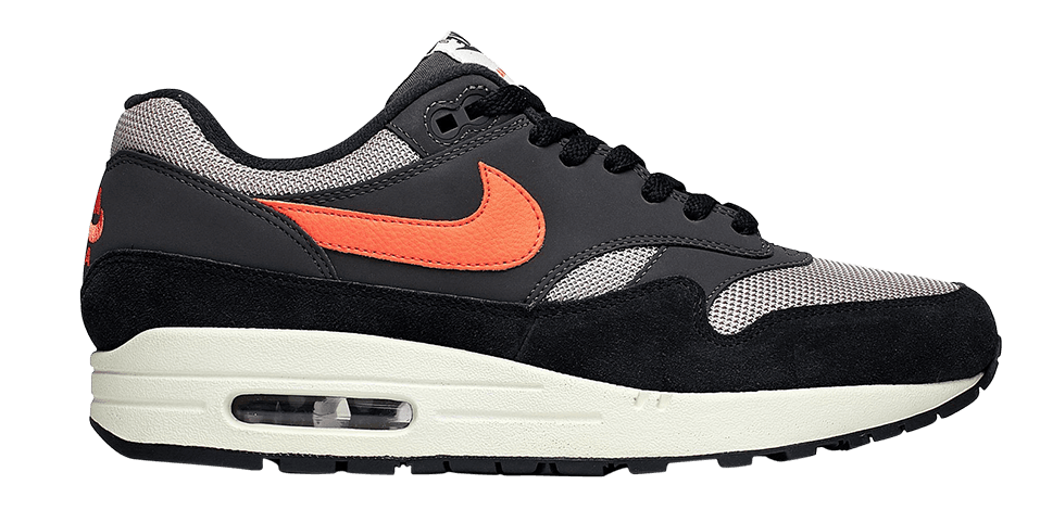 Nike Air Max 1 Oil Grey Wild Mango AH8145-004 Zwart Grijs Oranje maat