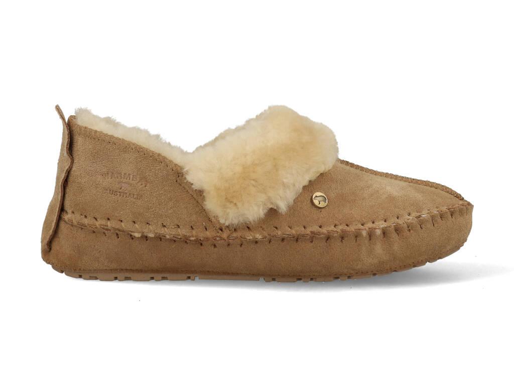 Warmbat Pantoffels Barrine BAR341026 Camel Bruin maat
