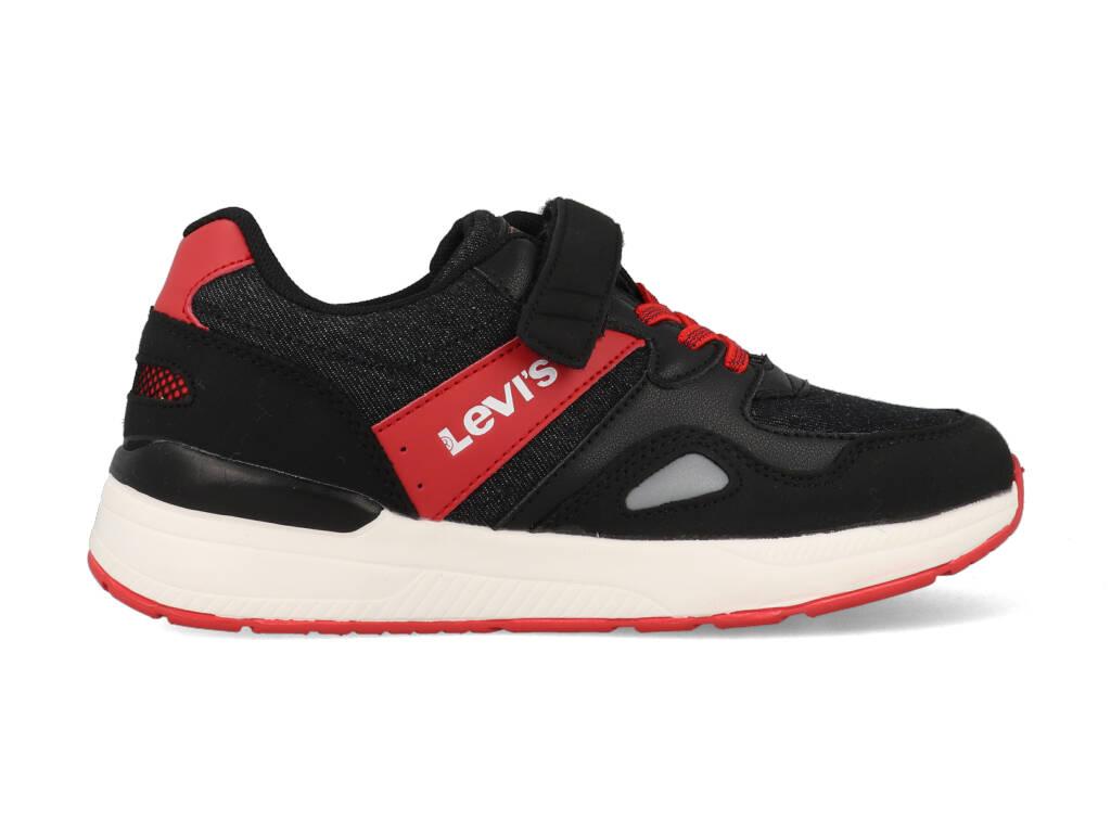 Levi's Sneakers BOSTON K VBOS0030T Zwart / Rood-32 maat 32