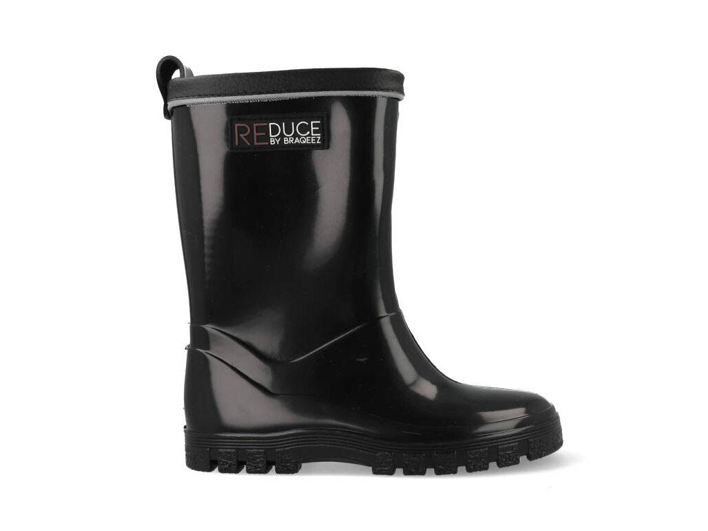 Braqeez Regenlaarzen Duurzaam RD120960-589 Zwart-25 maat 25