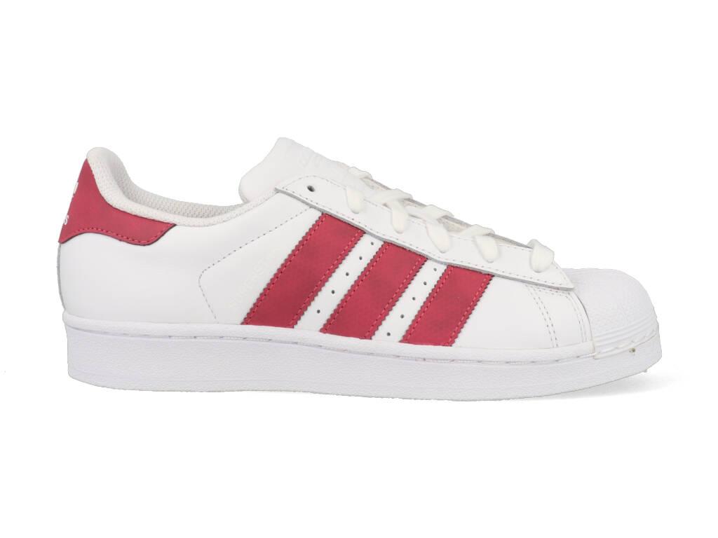 Adidas Superstar CQ2690 Wit Roze-38 2/3 maat 38 2/3