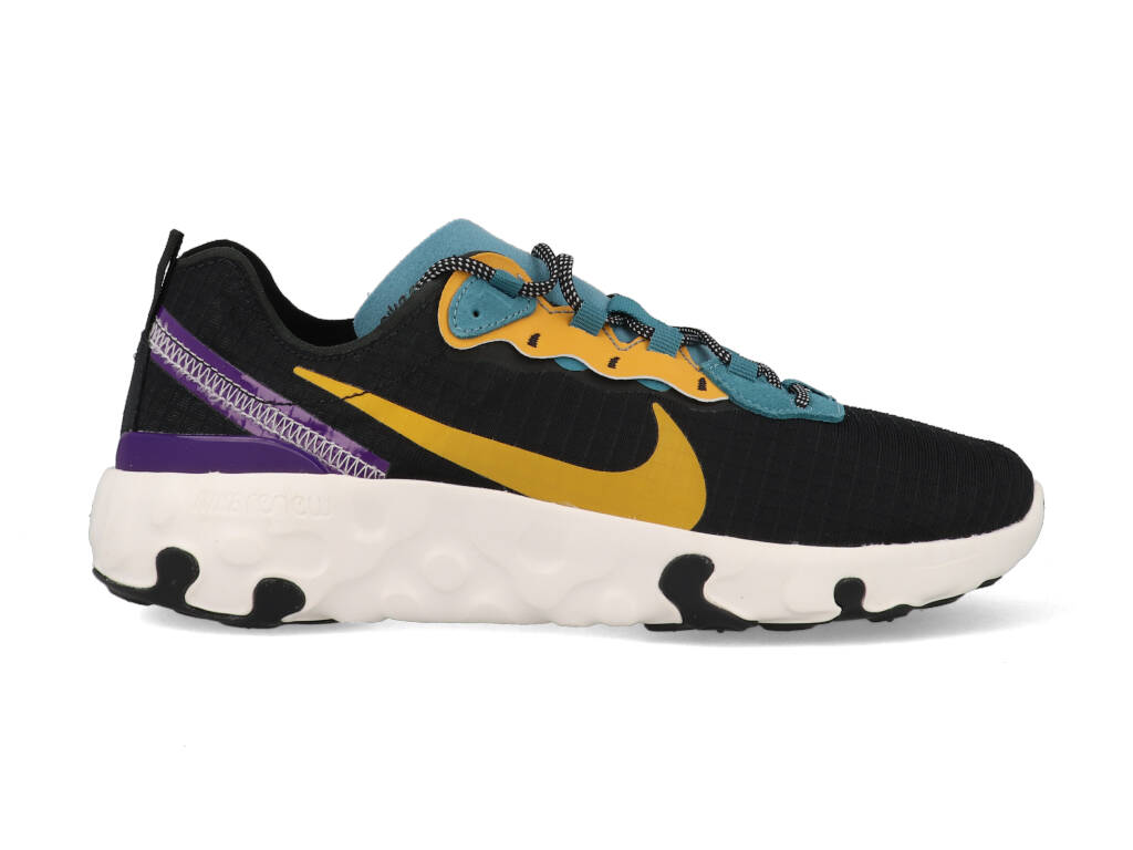 Nike Renew Element 55 CU0851-002 Zwart / Geel / Groen-39 maat 39