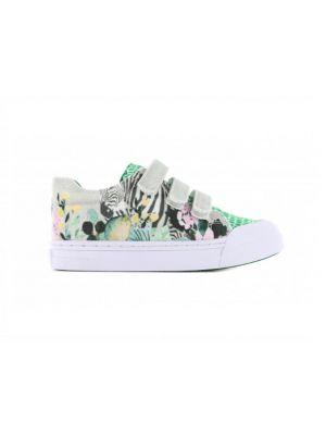 Go Banana's Sneakers GB_ZEBRA-V Groen / Wit