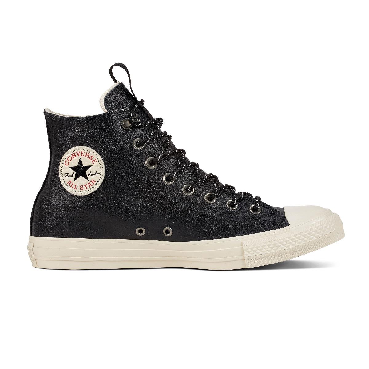 Converse All Stars Leather 162386C Zwart maat