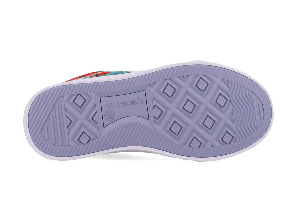 Go Banana's Sneakers GB_ALLIGATOR-L Blauw / Rood-20 maat 20