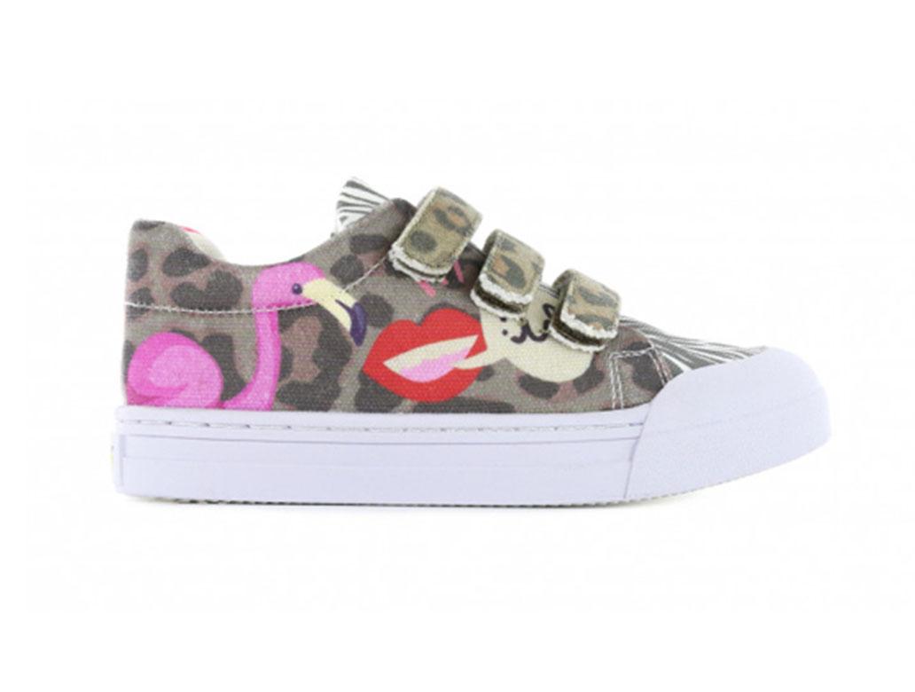 Go Banana's Sneakers GB_FLAMINGO-V Roze / Bruin-34 maat 34
