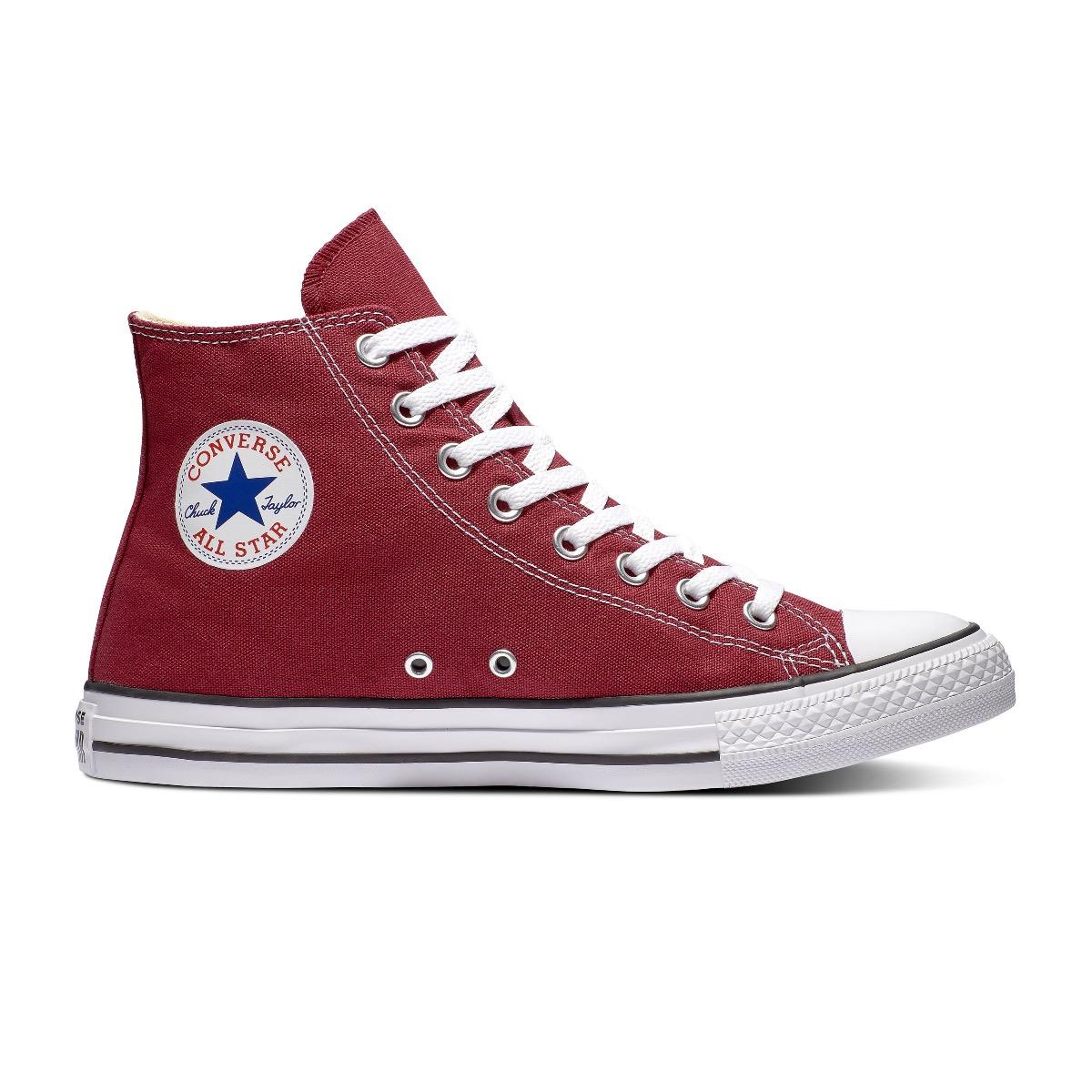 Converse All Stars Hoog Bordeaux Rood maat