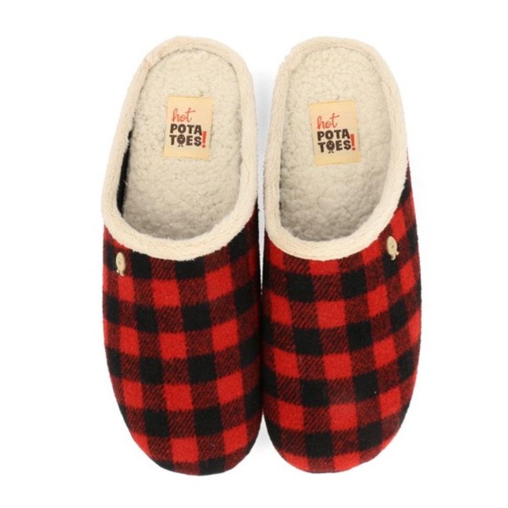 Hot Potatoes Pantoffels Tyvin 61077 Rood-47 maat 47