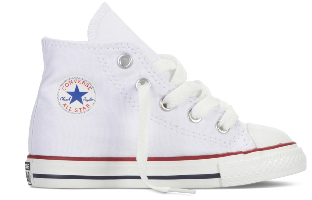 Converse All Stars Hoog Kids 7J253C Wit maat 17