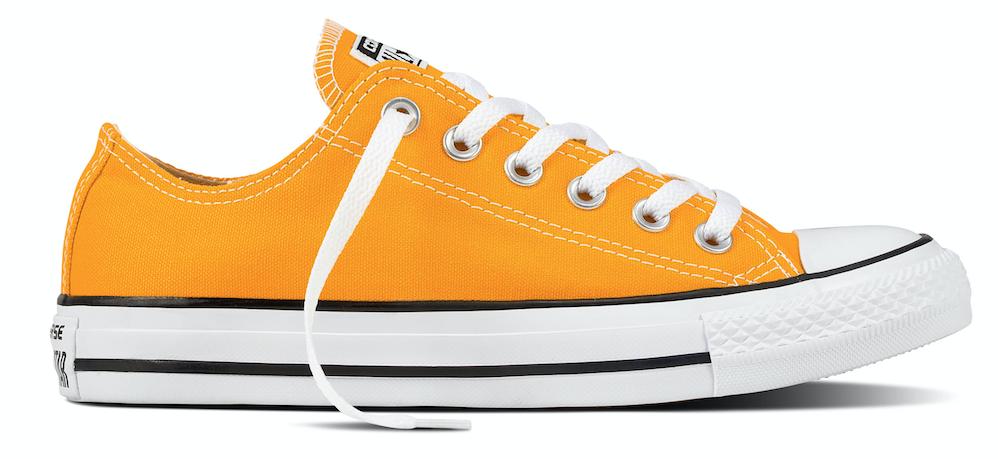Converse All Star damessneaker oranje en geel
