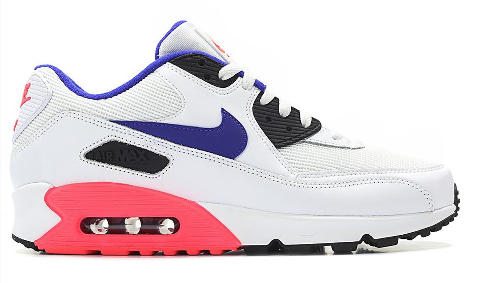 Nike Air Max 90 Essential 537384-136 Wit Paars Rood maat