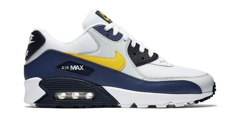 Nike Air Max 90 Essential ''Blue Recall'' AJ1285-101 Wit Blauw Geel