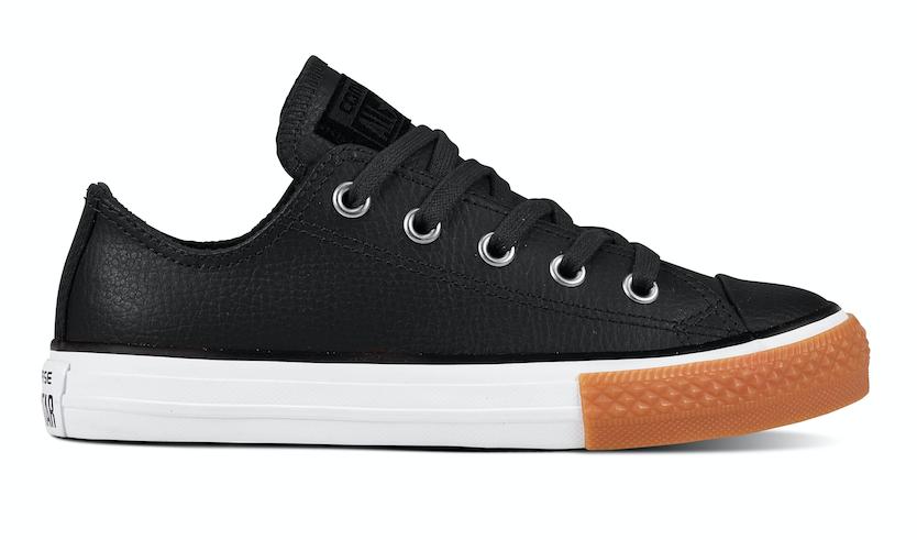 Dagaanbieding - Converse All Stars Kids Leather 661868C Zwart-33 dagelijkse koopjes