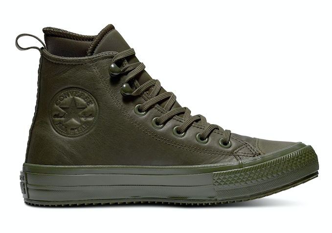 Converse All Stars Hoog Leather Waterproof 162501C Groen maat