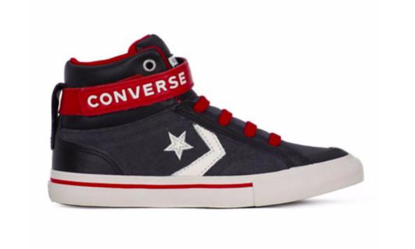 Converse All Stars Kids Pro Blaze Strep Leathers Hoog 662759C Zwart maat