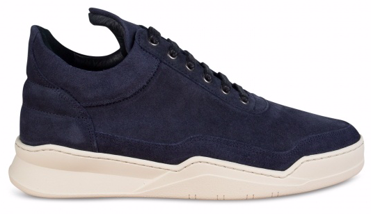 Filling Pieces Low Top Ghost Waxed Suede Blauw maat