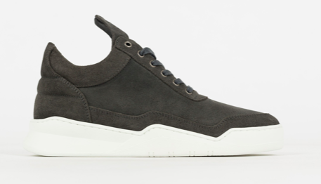 Filling Pieces Low Top Ghost Waxed Suede Antracite maat