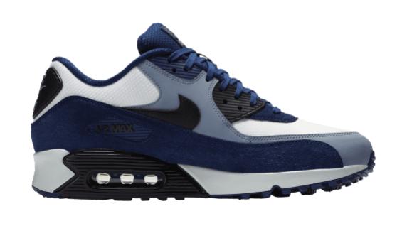 Nike Air Max 90 Leer 302519-400 Blauw maat