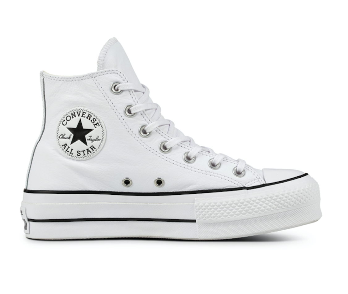 Converse All Stars Hoog Lift Clean Leather 561676C Wit-41.5 maat 41.5