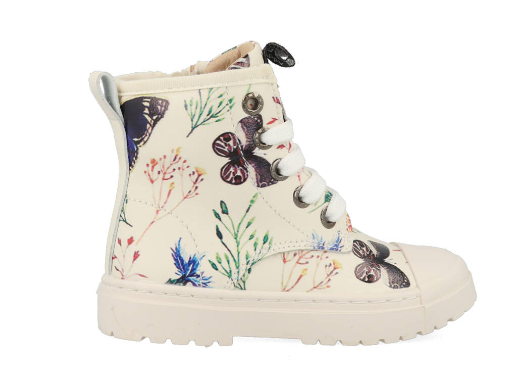 Shoesme Boot Bike White Butterfly SW21W011-H Wit-22 maat 22