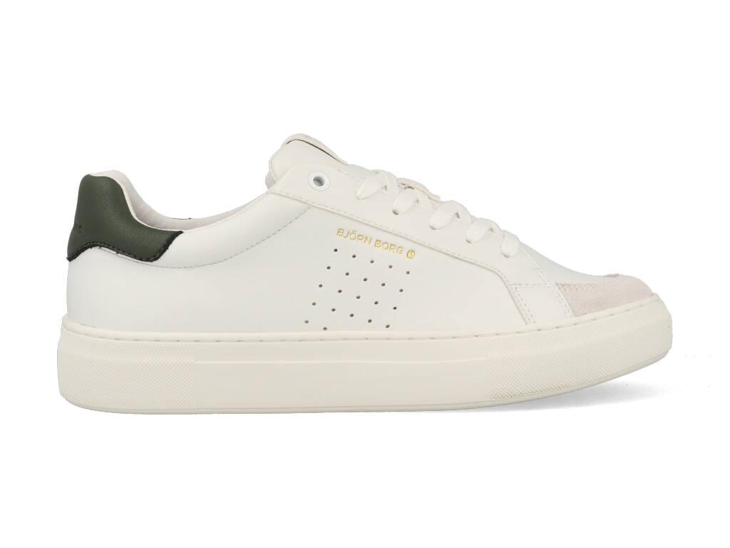 Björn Borg Sneakers T1600 CLS M Wit - Groen-43 maat 43