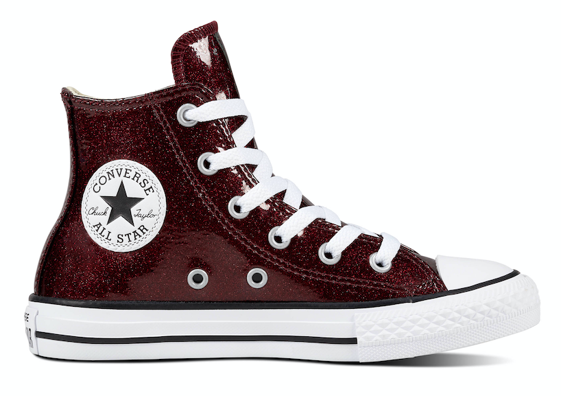 Converse All Stars Junior 661856C Glitter Bordeaux Rood-27