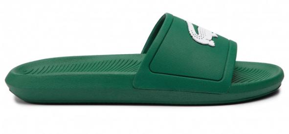 Lacoste slipper met Logo 7 37CMA00181R7 Groen/Wit